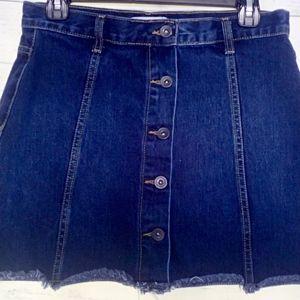 Forever 21 Jeans Skirt Junior Sz 27 (5) Med Wash